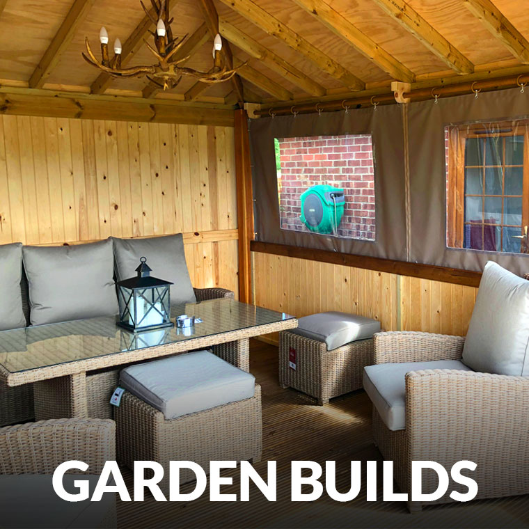garden builds, bars, offices and garden rooms